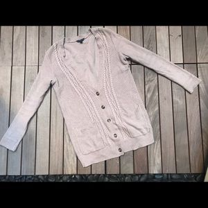 AMERICAN EAGLE | Beige Button Up Cardigan